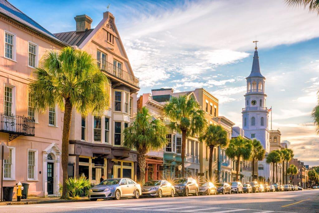 The historical downtown area of  Charleston, South Carolina, USA